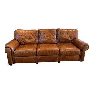 Stickley Santa Fe Brown Leather Sofa For Sale