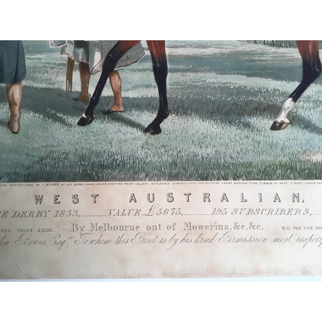 Paper English Horse Racing Print, C1853 For Sale - Image 7 of 13