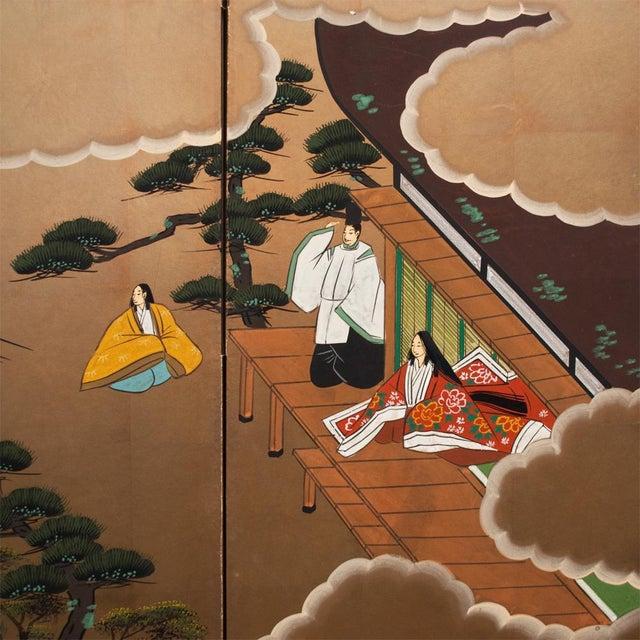 "Shōwa Era ""The Tale of Genji"" Japanese Byobu Screen For Sale In Dallas - Image 6 of 13"