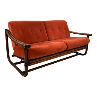 Italian Bamboo Two Seater Lounge Sofa 1960 For Sale