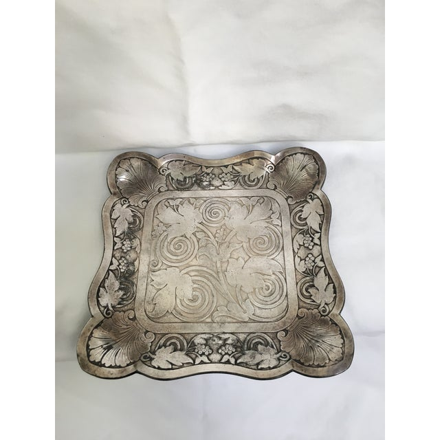 Silver Late 19th Century Antique James Tufts Silver Plate Pitcher & Tray For Sale - Image 8 of 13