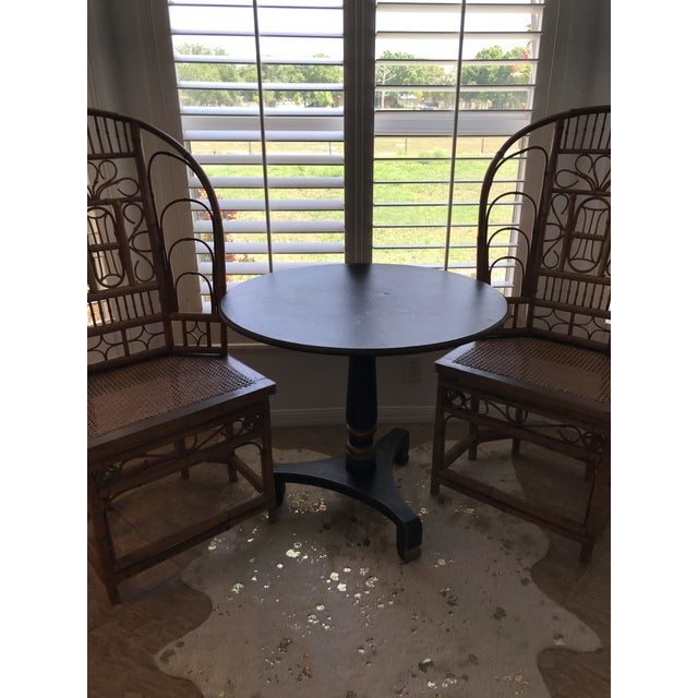 1990s Chinoiserie Painted Round Game Center Table For Sale - Image 12 of 13