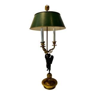 1920s Empire Gilt Bronze Bouillotte Lamp For Sale
