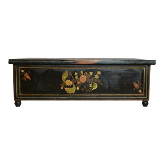 20th Century Folk Art Trunk Coffee Table For Sale