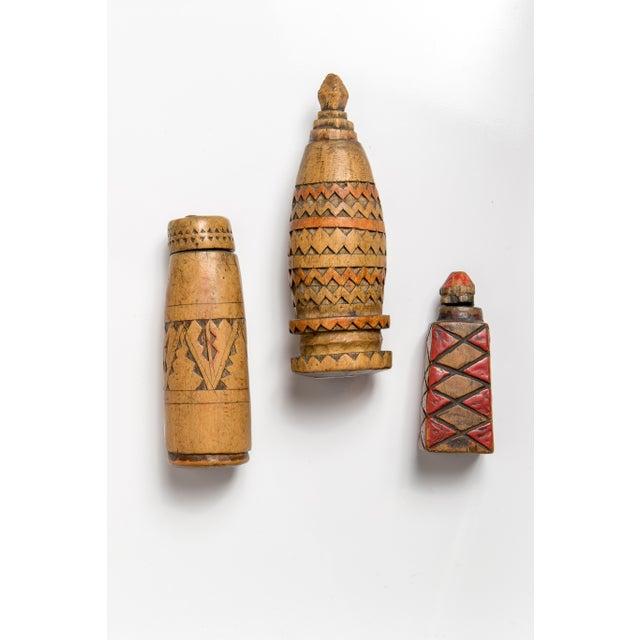 Berber Tribes of Morocco Berber Women Handcarved Vessels - Set of 4 For Sale - Image 4 of 4