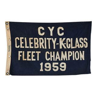 Vintage 1959 Cleveland Yacht Club Trophy Flag For Sale