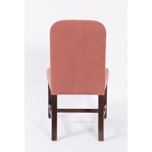 Early 21st Century Belgian Axel Vervoordt Linen Side Chairs - a Pair For Sale - Image 5 of 6