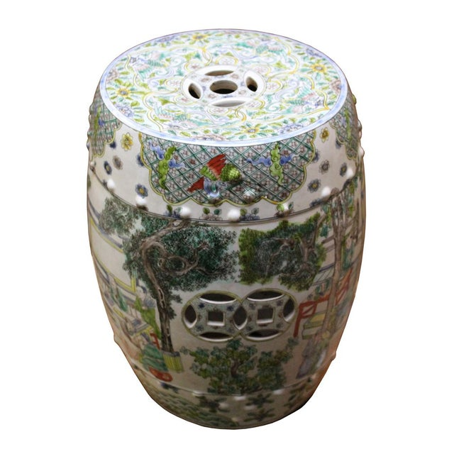 Chinese Porcelain Garden Stool with Scenery - Image 4 of 10