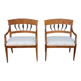 19th Century Vintage Biedermeier Petite Hallway Bedroom Benches- A Pair For Sale