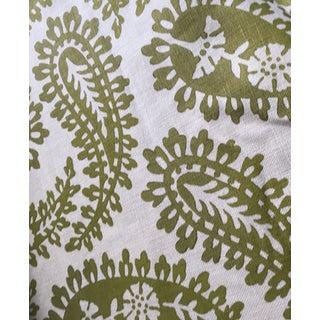 Galbraith & Paul Paisley Hand-Printed Linen Fabric For Sale