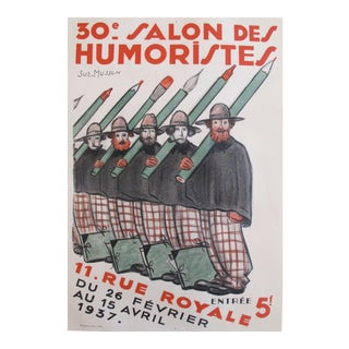 1937 Original French Poster, 30e Salon des Humoristes