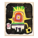 Image of Norman Hoberman Abstract Painting Mixed Media 1959 For Sale