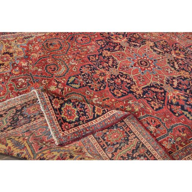 "Islamic Apadana - Vintage Persian Heriz Rug, 9'9"" x 13' For Sale - Image 3 of 7"