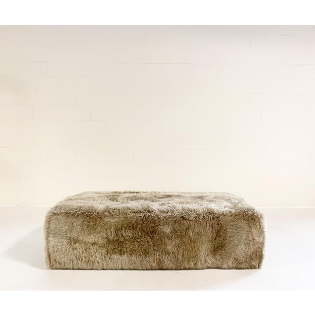 Forsyth Large Sheepskin Ottoman For Sale In Saint Louis - Image 6 of 6