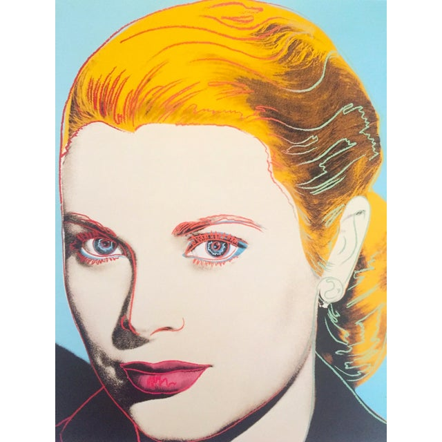 "1980s Andy Warhol Estate Vintage 1989 Pop Art Lithograph Print "" Grace Kelly "" 1984 For Sale - Image 5 of 10"