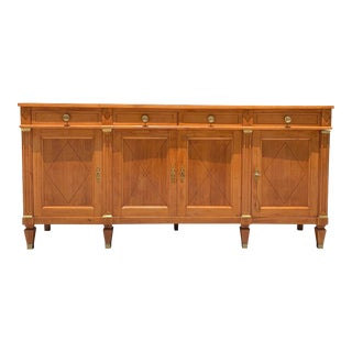 1910s French Directoire Antiques Fruitwood Sideboard or Buffet For Sale