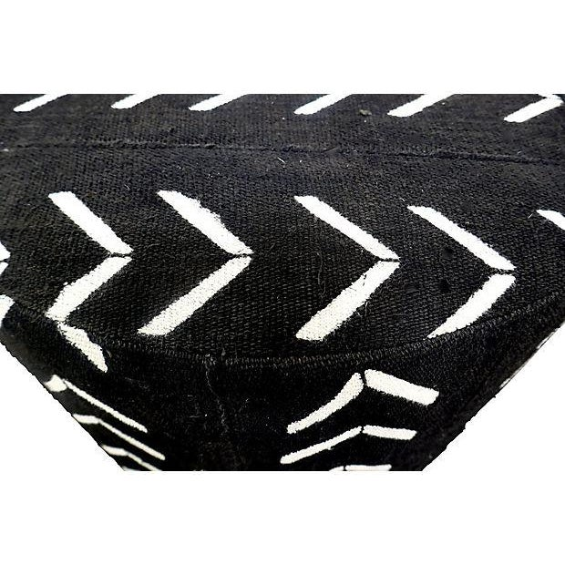 Tribal Fragments Identity Tribal Hand-Woven Ottoman For Sale - Image 3 of 4