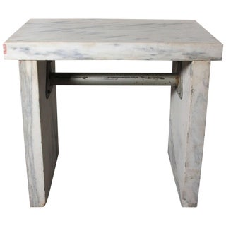 19th Century Americana White Marble Candy Maker's Table For Sale