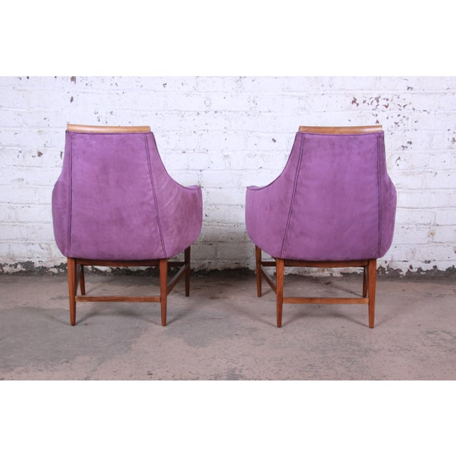 Directional Kipp Stewart for Directional Mid-Century Modern Lounge Chairs - a Pair For Sale - Image 4 of 13