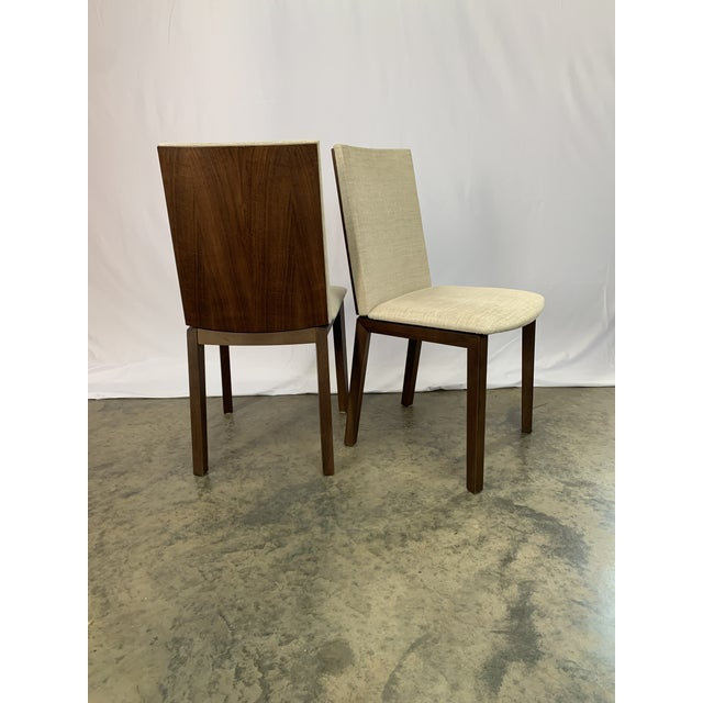 Brown Danish Modern Skovby Extended Dining Table and Six Chairs -- 7 Pieces For Sale - Image 8 of 12
