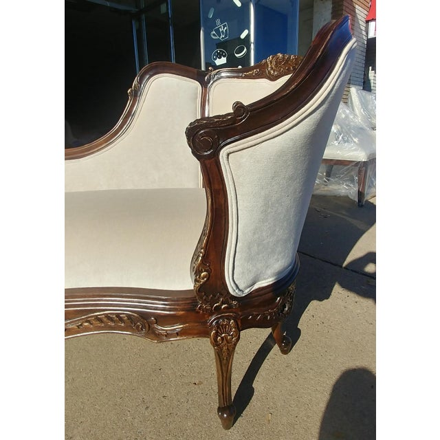 Henredon Furniture Sabine Mahogany Left Arm Chaise For Sale - Image 11 of 12