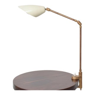 Midcentury Modern Stilnovo Clamp Table Lamp in Brass 1950s For Sale