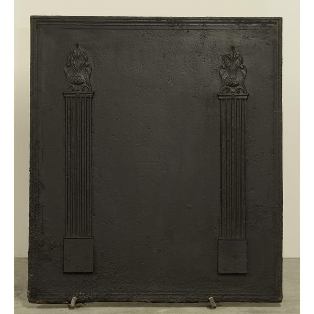 Mid 19th Century Fireback With Two Large Pillars For Sale - Image 5 of 5