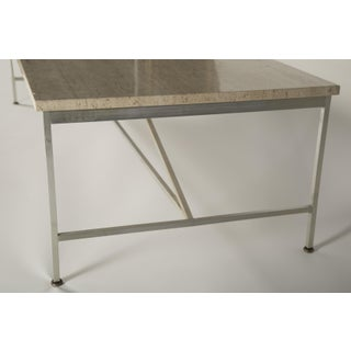 An Aluminum and Travertine Coffee Table Designed by Paul McCobb Preview
