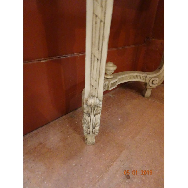 Wood 19th Century French Console With Marble Top For Sale - Image 7 of 12