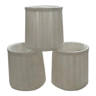 Silk Lamp Shades - Set of 3 For Sale