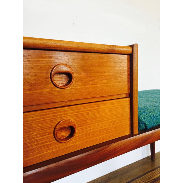 Mid Century Norwegian Teak Telephone Bench For Sale - Image 5 of 9