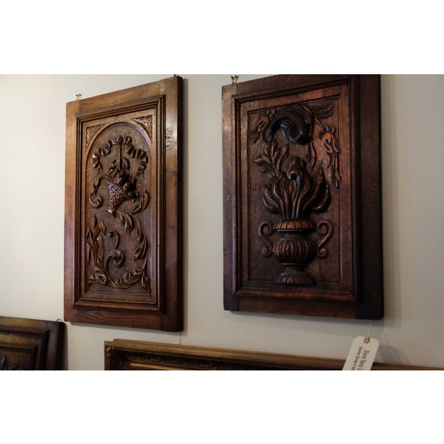 English Traditional Antique European Carved Walnut Panel For Sale - Image 3 of 5