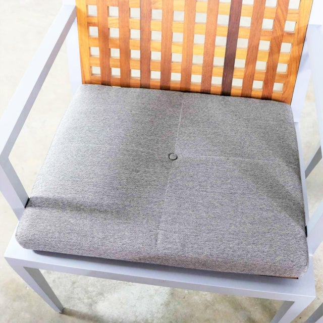 Pair of Aluminum and Teak Archetype Patio Chairs by Michael Vanderbyl for McGuire For Sale - Image 12 of 13