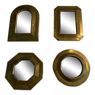 Moroccan Brass Mirrors - Set of 4 For Sale