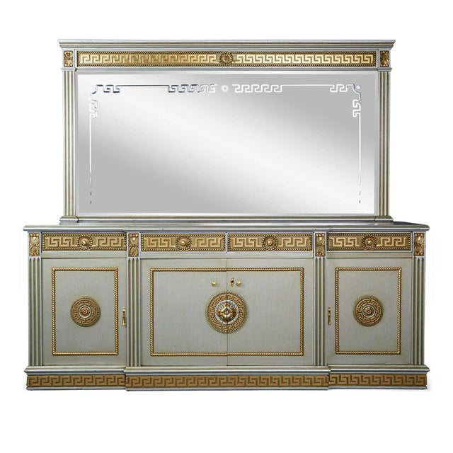 Greek Revival Versace Style Modernist Server With Mirror, Circa 1970 For Sale - Image 10 of 10