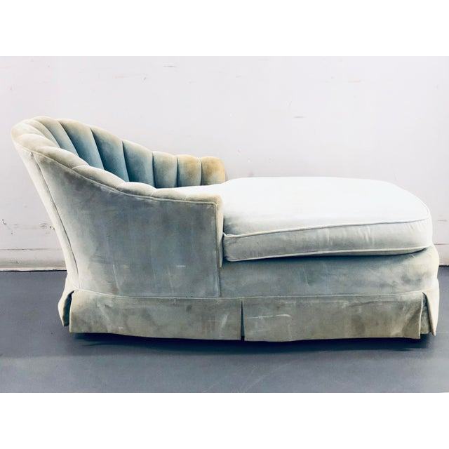 This lovely and sturdy chaise needs to be reupholstered. But it is a great petite piece with great quality frame!