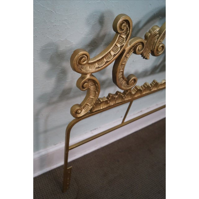 Vintage Gilt Rococo King Headboard For Sale In Philadelphia - Image 6 of 10