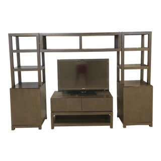 West Elm Media Console and Towers For Sale
