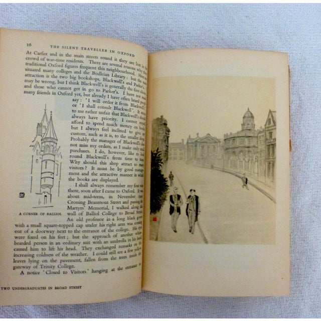 "1950s 1950 ""The Silent Traveller in Oxford"" Travel Book For Sale - Image 5 of 8"