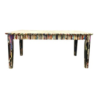 Modern Magazine Strip Collage Cocktail Table For Sale