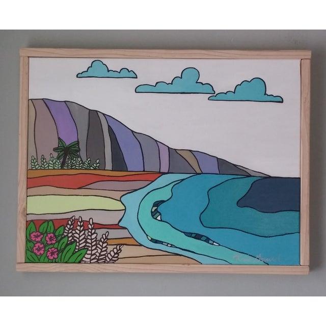 """""""Hawaiian Beach"""" Block Art by Kris Gould - Image 3 of 5"""