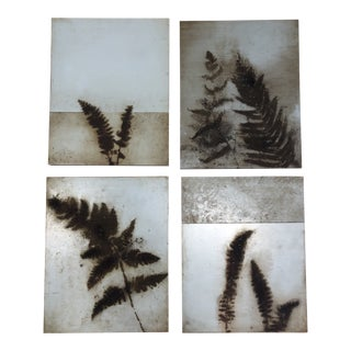 Donna Mintz Red Clay Pigments on Panels - Set of Four For Sale