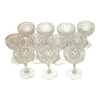 Vintage Cut Crystal Liqueur Cordial Brandy Glasses - Set of 11 For Sale