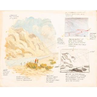 Vintage Study of Mountain Landscape For Sale