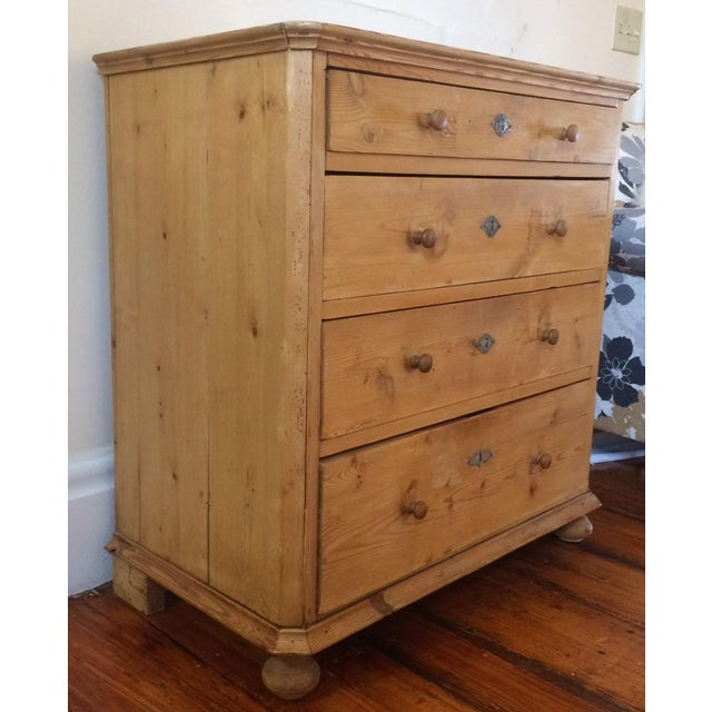 Country Sold - Antique Danish Pine Commode Chest of Drawers For Sale - Image 3 of 10