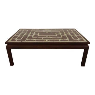 Reverse Painted Asian Style Coffee Table For Sale