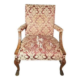 Antique Carved Armchair For Sale