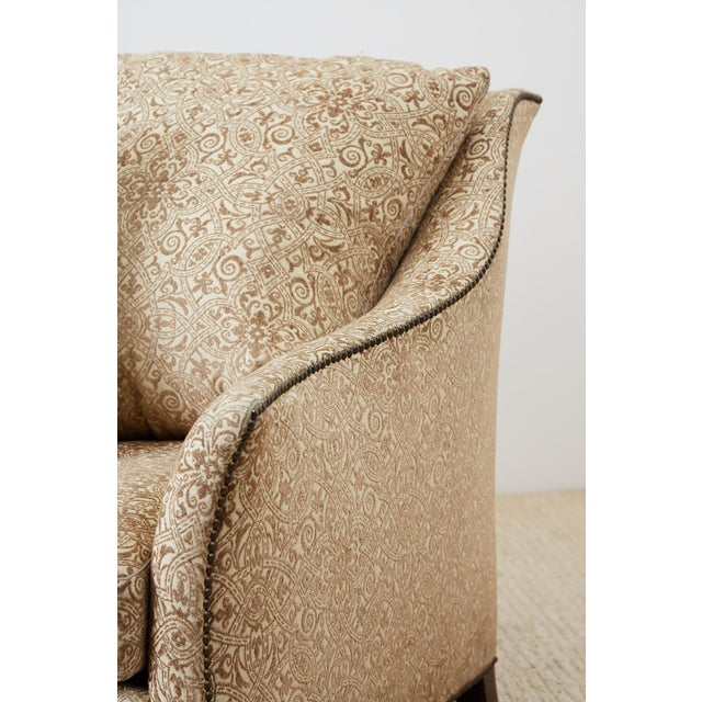 Metal Jonas New York Bruxelles Four Seat Upholstered Sofa For Sale - Image 7 of 13