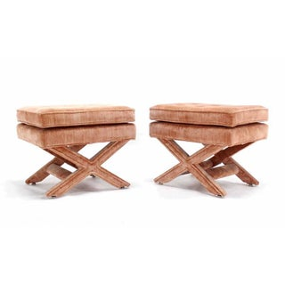 Mid Century Modern Excellent Original Condition X-Base Benches- a Pair Preview