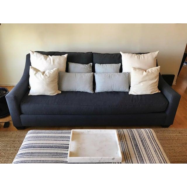 Navy Blue Custom Sofa - Image 6 of 8